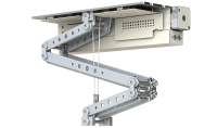 Robolift C100 - Hublänge: 95 cm, Hublast: 34,0 kg Finish: Blechteile weiss/ Aluteile silber